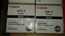 Canon GPR 4 Toner Cartridges -Black iR5000,iR6000,Factory Sealed