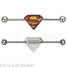 Superman Industrial Cartilage Scaffold Bar - Adjustable Length Ear Bar 14g