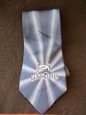 PENN STATE Silk Tie!  NITTANY LION LOGO!  BLUE!  SUNBURST DESIGN!