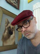 Vintage Country Gentleman Maroon Wool Cabbie NEWS BOY Cap Kangaroo Men's Hats