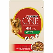 Purina One Puppy Dog Wet Food Beef Potato Flavor Mini Active Treats Snack 100g