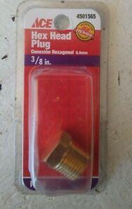 "ACE   Brass 3/8"" Hex Pipe Plug"