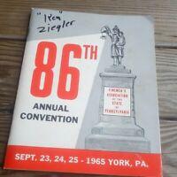 86th york convention Vol Firemen's Assoc. 1965
