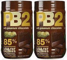Bell Plantation PB2 Chocolate Peanut Butter, 1 lb Jar (2pack), New