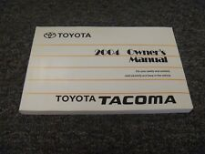 2004 Toyota Tacoma Owner Operator Manual User Guide PreRunner SRunner 2.4L Truck