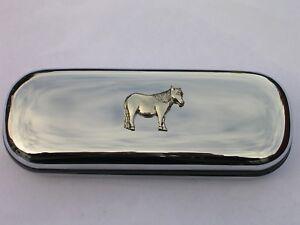 Shetland Pony horse brand new chrome glasses case make a great gift Christmas