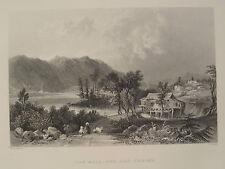 Lake Winnipseogee Saw Mill & Log Cabin Centre Harbr New Hampshire Engraving 1883