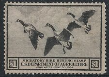 US Scott #RW3, Single 1936 Duck Stamp $1 FVF MNG