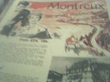 ephemera 1960 holiday advert hotel national montreux