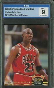 1992-93 Stadium Club Members Choice #210 Michael Jordan Bulls HOF AGS 9 MINT