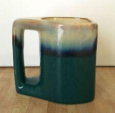 RODOLFO PADILLA MEXICAN POTTERY DRIP GLAZE Teal Green Blue COFFEE MUG Cup