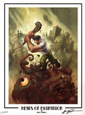 Eric Powell The Goon Signed #ed LE Dark Horse Comic Art Print w/ Original Sketch