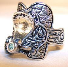 #111R unisex fashion gothic motorcycle new Deluxe Horse Saddle Metal Bikers Ring