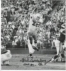 Herb Adderley Signed 8x8 1/2 Book Photo Green Bay Packers HOF