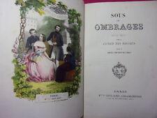 SOUS LES OMBRAGES simples récits Alfred des Essarts 10 lithographies couleurs