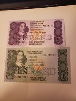 South Africa, 5& 10 Rand ND (1973-1993) P-119 ,120e, aUNC + a Gift