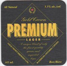 beer coaster GOLD CROWN BREWERY