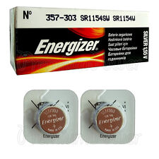 2 x Energizer Silver Oxide 357/303 batteries 1.55V D357 V357 SR44 Watch EXP:2020