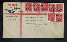 1930s Hangchow China Airmail Cover to Usa