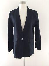 New Jcrew Tall unstructured blazer in cotton-linen Black 8 Tall SPRING '18 H6201