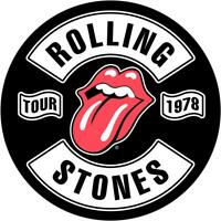 OFFICIAL LICENSED - THE ROLLING STONES - TOUR 78 BACK PATCH ROCK JAGGER