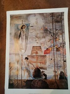 """Salvador Dali, The Discovery of America by C Columbus, Museum Poster 1985 22X29"""""""