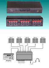 5 Zone Pairs Speaker Selector Switch Switcher 200Watt