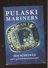 Pulaski Mariners--2004 Pocket Schedule--Budweiser
