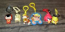 KEYCHAINS & CLIPS BUNDLE LOT JUST AS PICTURED RUBBLE,ANGRY BIRDS & MORE #24