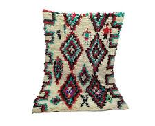 Moroccan vintage rug 4' x 6' Boucherouite rug Boucherouit, oriental Berber rug