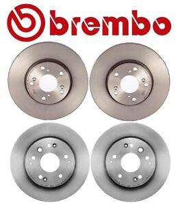 For Honda Element 2003-2011 Front & Rear Coated Disc Brake Rotors Kit Brembo