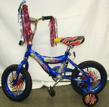 "12"" Boy's Blue Bike Training Wheels Foot Brake 3 to 5 Years Old"
