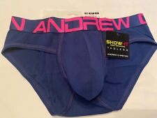 """Andrew Christian"" Size ""M"" Show-It  Brief - Navy/Fuchsia"