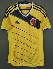 MENS ADIDAS COLOMBIA WORLD CUP 2014 SOCCER FOOTBALL SHIRT JERSEY MAILLOT SIZE S