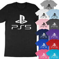 Playstation 5 Gamer PS5 Logo Gaming PS Video Game Console Fan Gift T-Shirt Tee