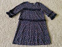 Kleid +++ Friboo +++ Gr. 146/152 schwarz mit Herzenmotiv -- Ideal für Schule