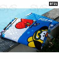 BTS BT21 Official Authentic Goods Summer Beach Bath Towel 70 x 140 cm + Tracking