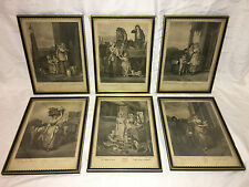 Vintage F. Wheatley CRIES OF LONDON Two Color Print Plates 2,7,8,9,10 & 13.