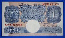 More details for 1940 british bank of england £1, banknote, peppiatt prefix