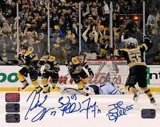 Patrice Bergeron Marchand Seguin Boychuk Boston Bruins Signed Comeback 20x24