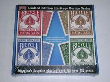 Set of 4 Bicycle Heritage Design Series Playing Card Decks Limited