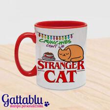 Tazza colorata Stranger Cat: Crunchies don't lie. Stranger Things inspired! ross
