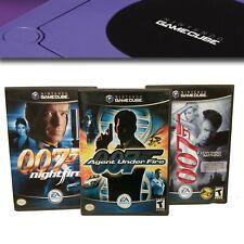 James Bond 007 Nightfire Agent under Fire Nintendo Gamecube Games CIB Lot of 3