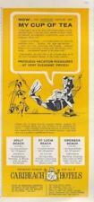 1962 Caribeach Hotel PRINT AD Fun ad details Jolly, St.Lucia & Grenada Beach hot