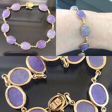 Estate 14k Gold Carved Gemstone Scarab Bracelet 7 12 Lapis Amethyst Carnelian Onyx