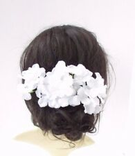 3 x Large White Hydrangea Flower Hair Pins Bridesmaid Fascinator Bridal Set 4659