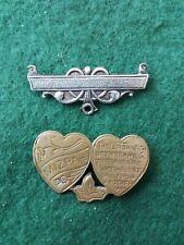 Silver Medal Bar. Old Brooch &