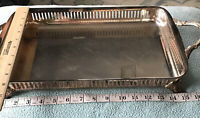 Poole Bristol Silverplate Casserole Serving Tray Holder With Pyrex Insert