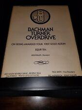 BTO Rare Original RPM Gold Album Promo Poster Ad Framed!