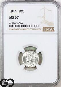 1944 MS67 Mercury Dime NGC Mint State 67 ** Premium Quality Blazer!